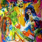 LeRoy Neiman / Hand Painted 5th Dimension Music Group 1972 Tour Book Prototype